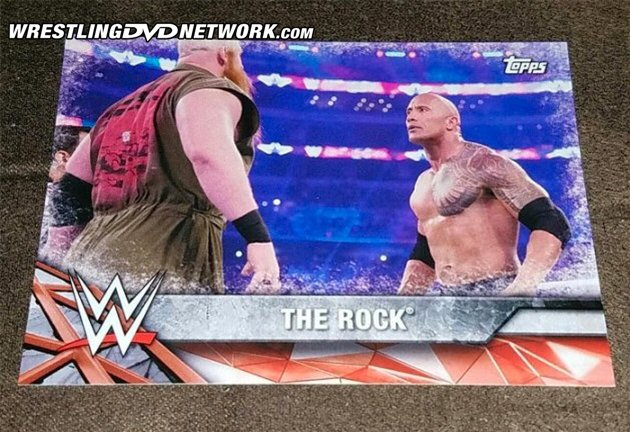 WWE Royal Rumble 2017 DVD - The Rock Trading Card