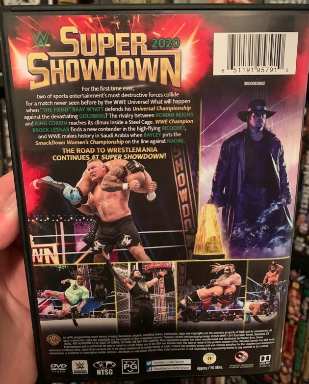 WWE Super Showdown 2020 DVD - Photos, Back Cover
