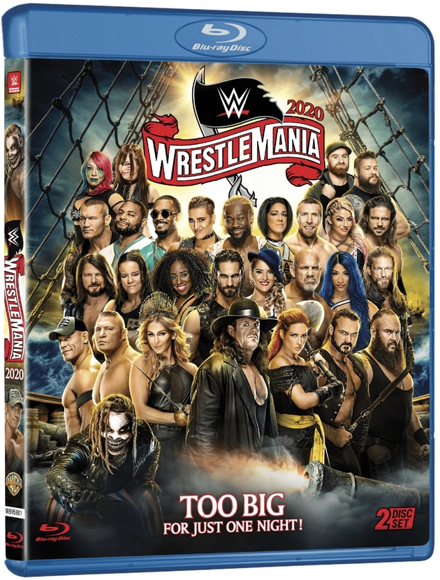 WWE WrestleMania 36 Blu-ray - Official Box Artwork