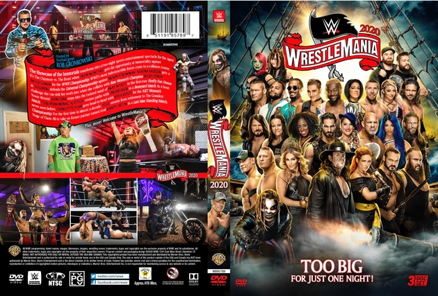 WWE WrestleMania 36 DVD - Full Cover Sleeve Artwork