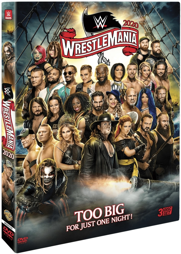 WWE WrestleMania 36 DVD - Official Box Artwork