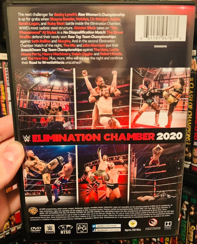 WWE Elimination Chamber 2020 DVD - Photos, Back Cover