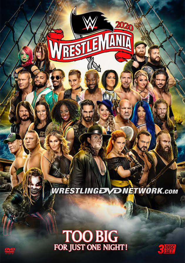 WWE WrestleMania 36 DVD & Blu-ray - Official Cover Artwork