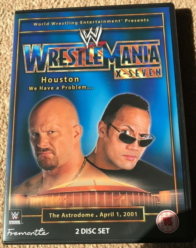WWE/WWF WrestleMania 17 DVD UK Re-Release - Front Cover Artwork