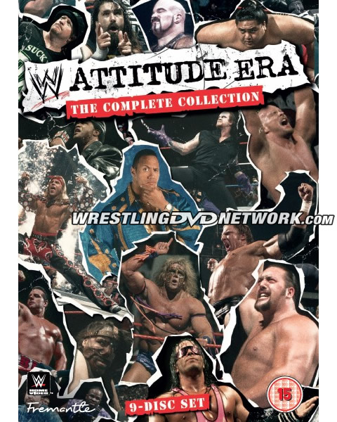 WWE 'Attitude Era: The Complete Collection' DVD - Cover Artwork
