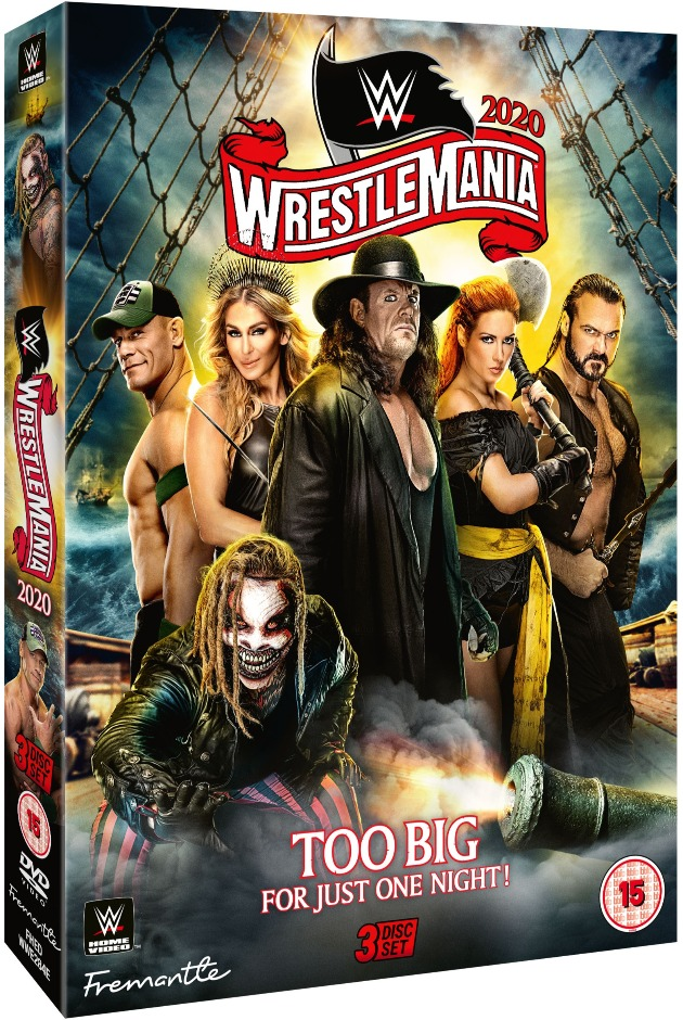 WWE WrestleMania 36 DVD - Alternate Artwork, UK Exclusive