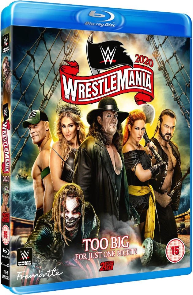 WWE WrestleMania 36 Blu-ray - Alternate Artwork, UK Exclusive
