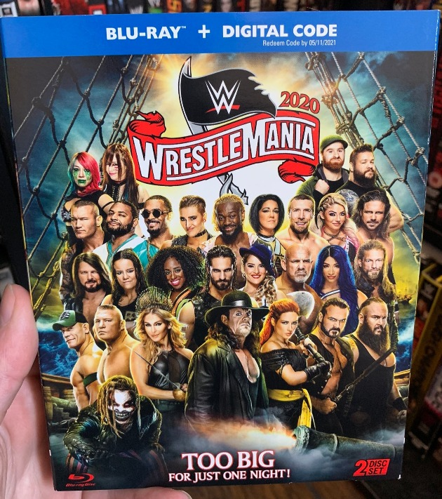 WWE WrestleMania 36 Blu-ray - Front of Slipcover Packaging