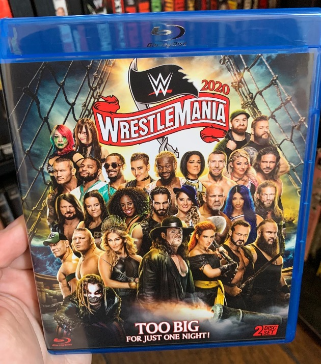 WWE WrestleMania 36 Blu-ray - Photos, Front Cover