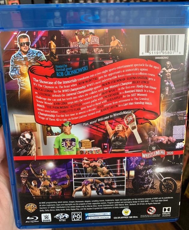 WWE WrestleMania 36 Blu-ray - Photos, Back Cover