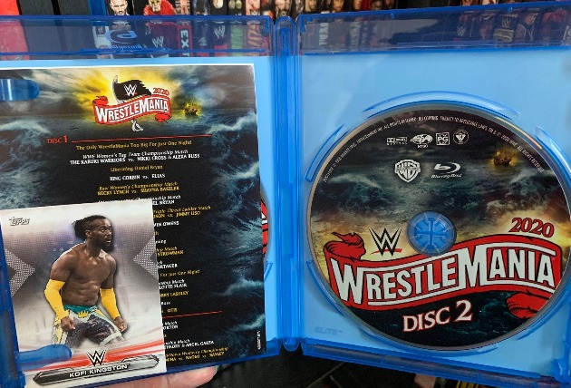 WWE WrestleMania 36 Blu-ray - Photos, Packaging Layout