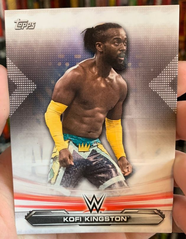 WWE - Kofi Kingston Topps Trading Card Free Inside WrestleMania 36 DVD!