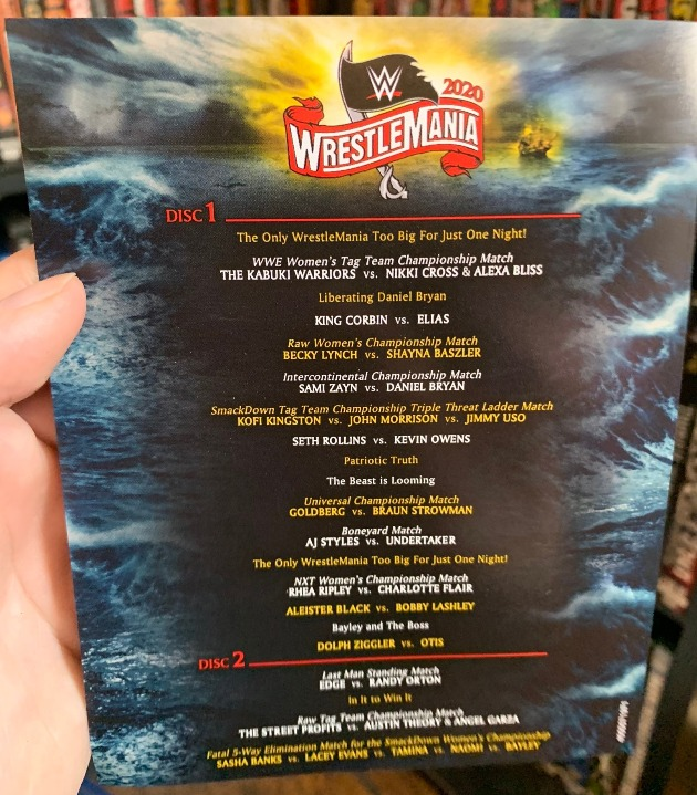 WWE WrestleMania 36 DVD & Blu-ray - Full Content Listing & Extras
