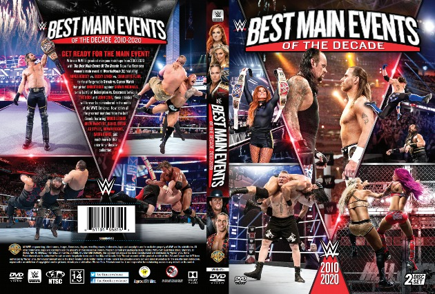WWE 'Best Main Events of the Decade' DVD - Full Sleeve Cover Artwork