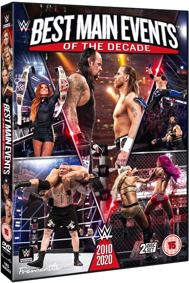 WWE 'Best Main Events of the Decade' DVD - Official Box Artwork