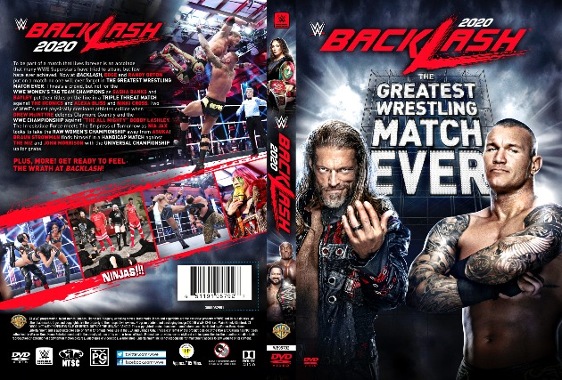WWE Backlash 2020 DVD - Full Sleeve Cover Artwork