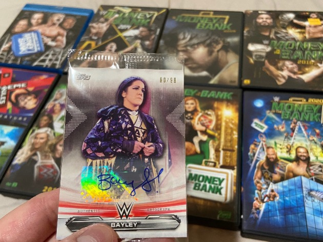 WWE - Bayley Signed Trading Card 'Autograph Issue' from Money in the Bank 2020 DVD