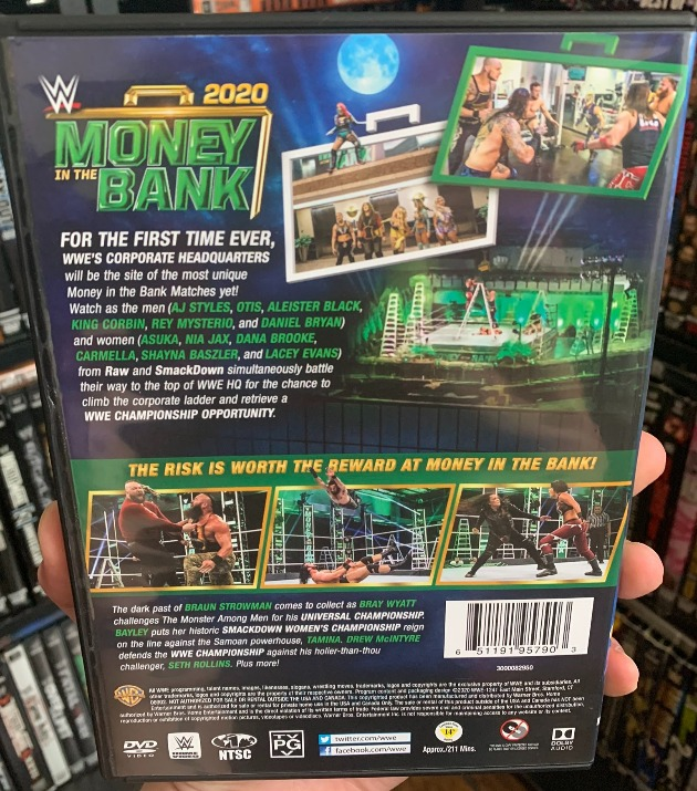 WWE Money in the Bank 2020 DVD - Photos, Back Cover