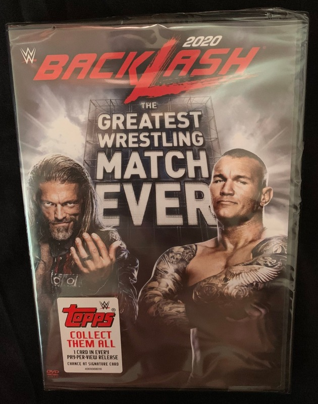 WWE Backlash 2020 DVD - Photos, Front Cover