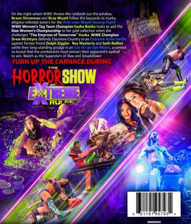 WWE The Horror Show at Extreme Rules 2020 DVD - Back Cover Artwork
