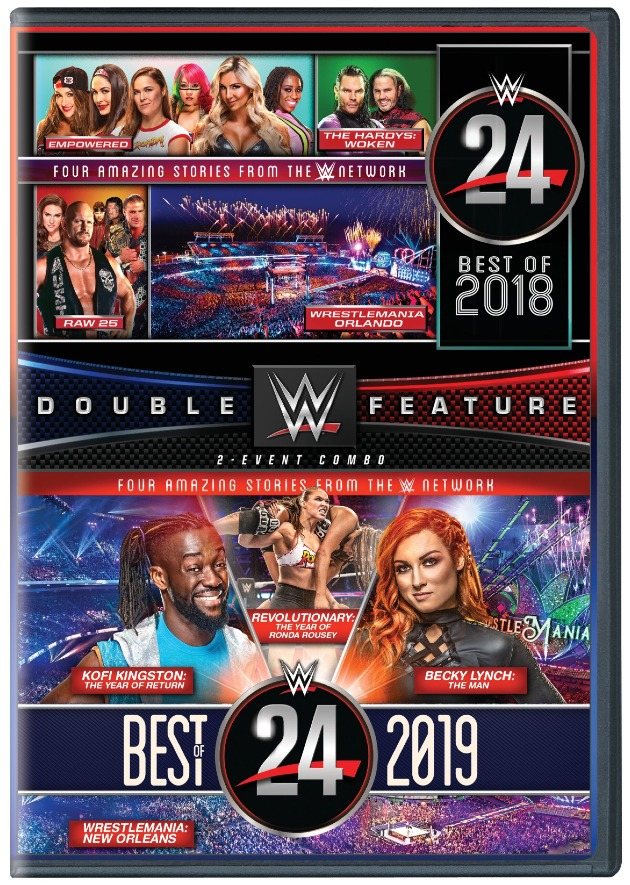 WWE Double Feature: WWE 24 Best of 2018 and Best of 2019 DVD