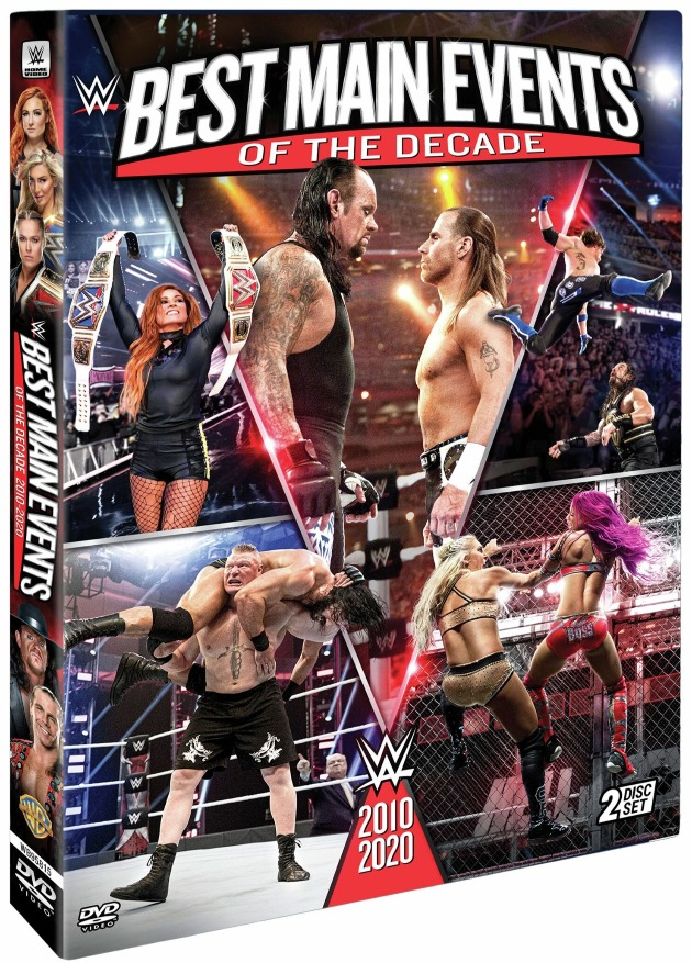 WWE 'Best Main Events of the Decade 2010-2020' DVD - Official Box Artwork
