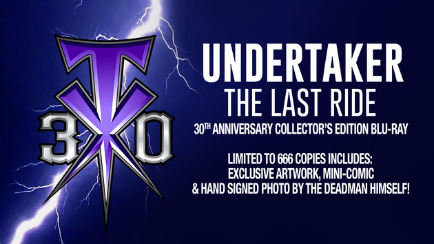 WWE 'Undertaker: The Last Ride' Blu-ray, 30th Anniversary Collector's Edition
