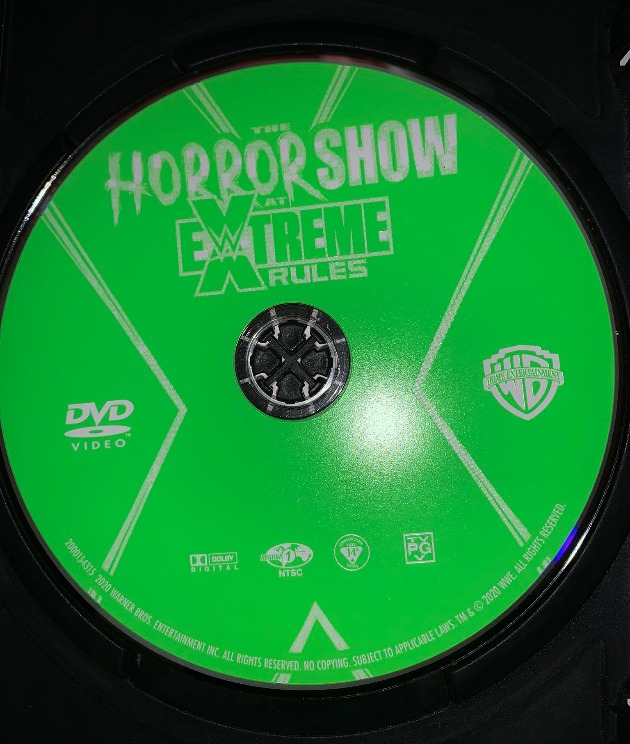 WWE Horror Show at Extreme Rules 2020 DVD - Photos, Disc Artwork