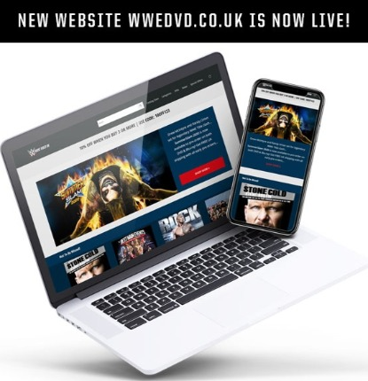 WWE DVD UK - New Website & Re-Design