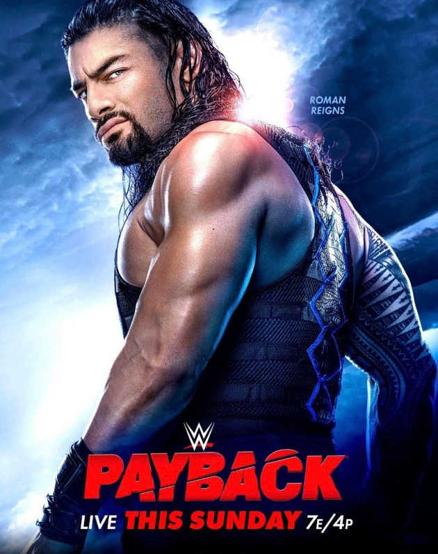 WWE Payback 2020 PPV Poster - Featuring Roman Reigns