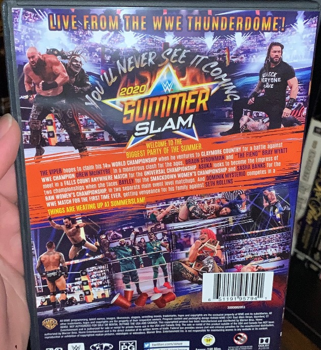 WWE SummerSlam 2020 2020 DVD - Photos, Back Cover
