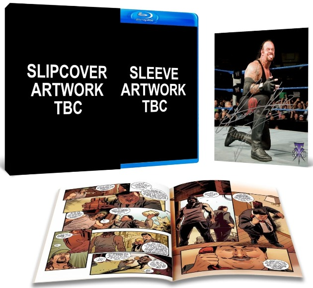 Contents of WWE 'Undertaker: The Last Ride' Blu-Ray Collector's Edition - Signed Photo & Comic Book
