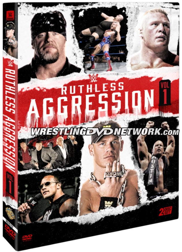 WWE 'Ruthless Aggression Vol. 1' DVD - Official Box Artwork