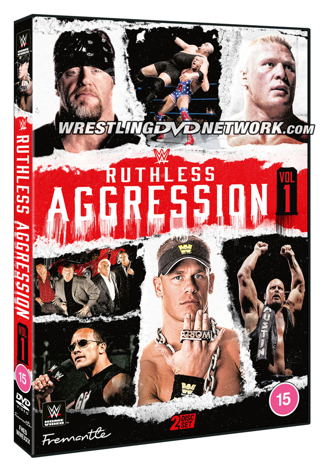 WWE 'Ruthless Aggression Vol. 1' DVD - Official Cover Artwork