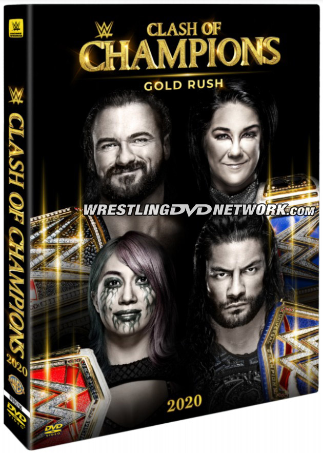 WWE Clash of Champions 2020 DVD - Official Box Artwork