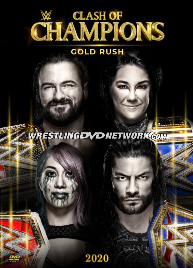 WWE Clash of Champions 2020 DVD - Front Cover Artwork
