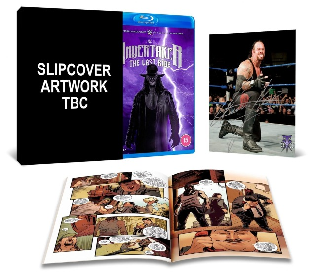 Contents of WWE 'Undertaker: The Last Ride' Collector's Edition Blu-ray