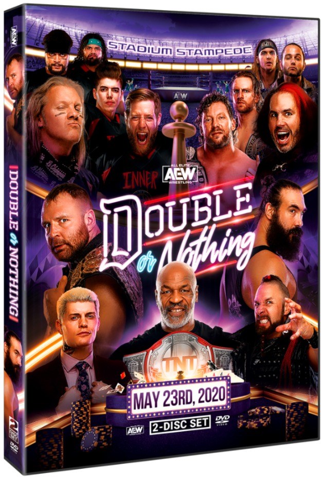 AEW Double or Nothing 2020 DVD - Cover Artwork