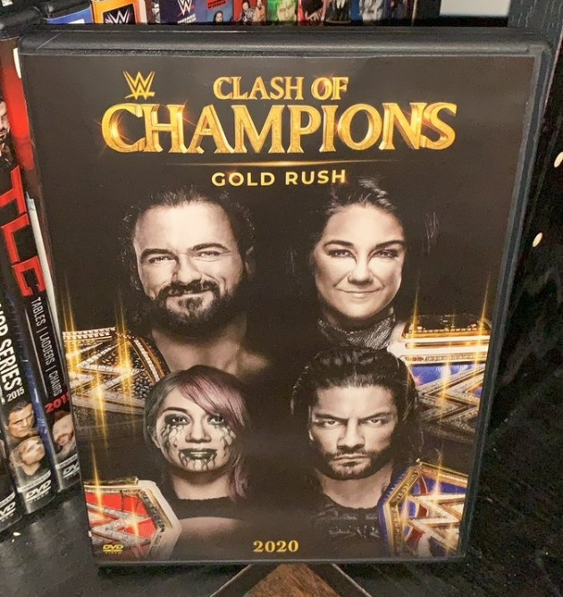 WWE Clash of Champions 2020 DVD - Photos, Front Cover