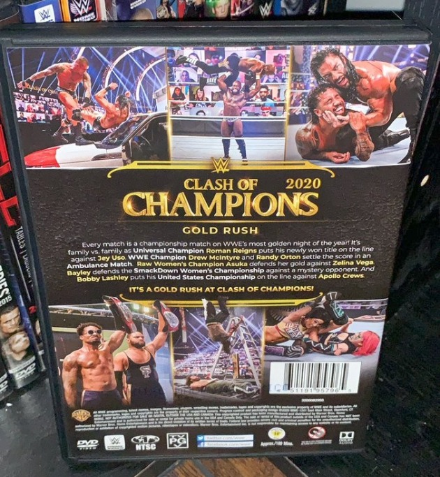 WWE Clash of Champions 2020 DVD - Photos, Back Cover