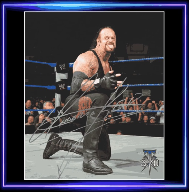 WWE - The Undertaker Signature 2020 - Signed Poster Artwork