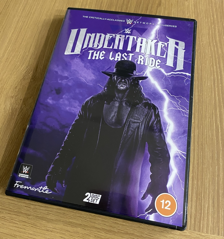 WWE 'Undertaker: The Last Ride' DVD UK - Front Cover