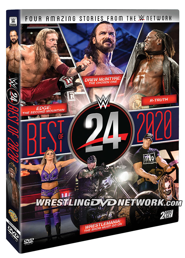 WWE 24: Best of 2020 DVD - Official Box Artwork