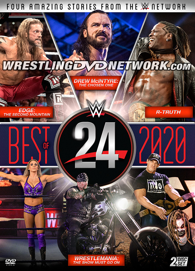 WWE 24: Best of 2020 DVD - Front Cover Artwork