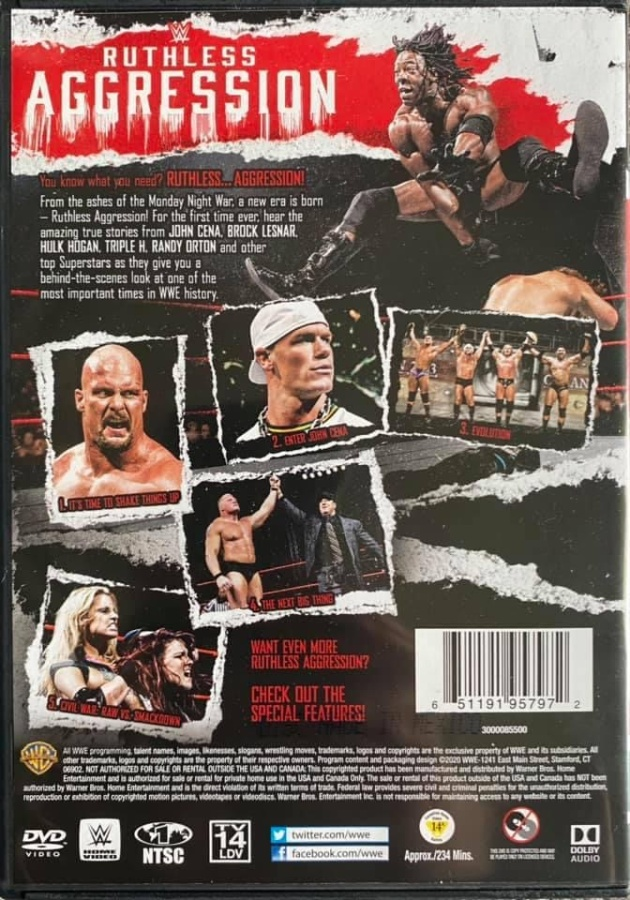 WWE 'Ruthless Aggression Vol. 1' DVD - Photos, Back Cover