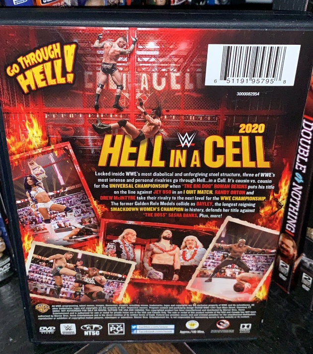 WWE Hell in a Cell 2020 DVD - Photos, Back Cover