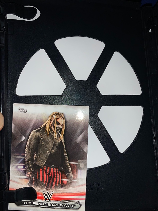 WWE - The Fiend Topps Trading Card Inside Hell in a Cell 2020 DVD!
