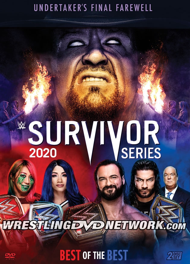 WWE Survivor Series 2020 DVD - Front Cover Artwork