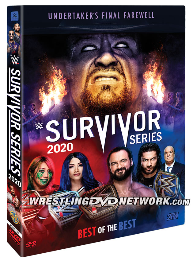 WWE Survivor Series 2020 DVD - Official Box Artwork
