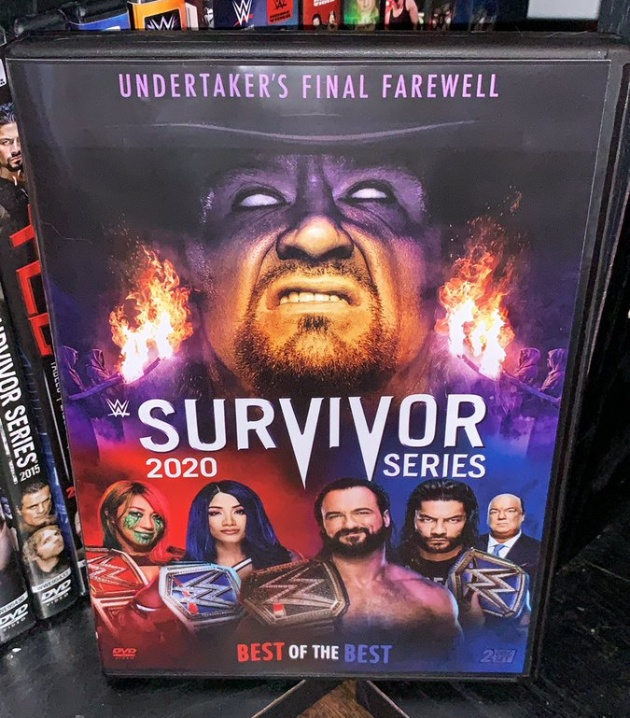 WWE Survivor Series 2020 DVD - Photos, Front Cover